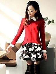 Women's Long Sleeve Lapel Dress