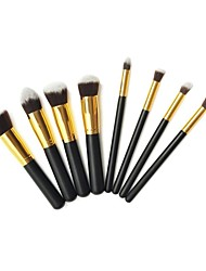 Pro High Quality 8 Pcs Synthetic Hair Golden Makeup Brush Set