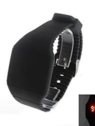 Men's Super Fashion  LED Square Rubber Wrist Watch