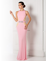 Prom / Formal Evening / Military Ball Dress - Plus Size / Petite Trumpet/Mermaid Jewel Floor-length Jersey