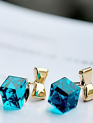 h&mignon cristal arc boucles d'oreilles élégantes de l'Rubik d femmes