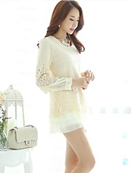 Women's Cultivate One's Morality Show Thin Chiffon Long Sleeve Dress