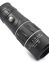 3963 16x52 Black Handy Portable 16X Monocular Single-Tube Telescope w/ Compass