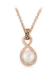 8 de la moda forma collar de perlas de diamantes de las mujeres de la margarita