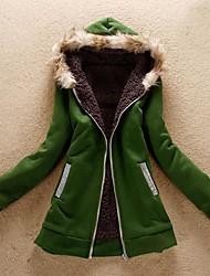 SANFENZISE™ Women's Hoodies Lambs Wool Upset Outerwear