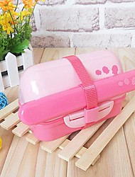 Double Layer Balls Sushi Lunch Box Japanese Style Chopsticks (Random Color)