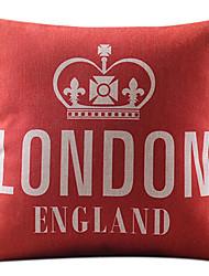 batom vermelho de Londres Inglaterra algodão / linho fronha decorativo