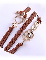 (1 Pc)Sweet 5.1cm Women's Cortical Alloy Chain & Link Bracelet