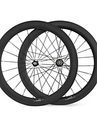 KAYOTE 700C 60mm Width 23mm Carbon Fiber Clincher  Wheels Bicycle Wheelset