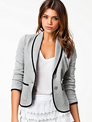 Q.S.H Women's Lapel Collar Fitted Short Suit Blazer