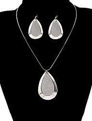 Fashion Drop Water Shape Shinning Jewelry Set(1 Set)