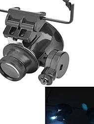 очки введите 20x лупа с белой светодиодной свет (2 х CR1620)