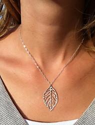 Shixin® Fashion Hollow Out Leaf Shape Pendant Necklace(1 Pc)