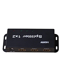 HDMI Splitter 1 Input 2 Output Amplifier Switch Box Hub 1x2 HDTV 1080p 3D,Real V1.4,4Kx2K,EP Chipset