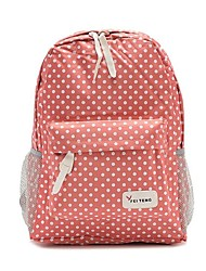 Women's Girls Sweet Polka Dot Nylon Oxford Book School Bag Camping Backpack