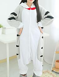 Kigurumi Pajamas Cat Chi's Sweet Home/Cheese Cat Leotard/Onesie Festival/Holiday Animal Sleepwear Halloween Patchwork Polar Fleece