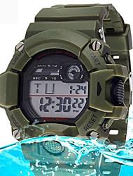 Men's Fashion Digital Waterproof Sport Wristwatch with Alarm Clock Stopwatch LED Cool Watch Unique Watch