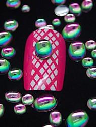 100PCS  Random Color Mix Size 3D Nail Art Decoration