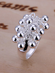 Vivid Women's Grape Silver Plate Ring