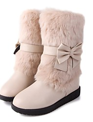 Women's Shoes Round Toe Wedge Heel Mid-Calf Boots More Colors available