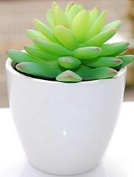 lotus simulation de plastique délicat de plante en pot