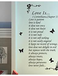 jiubai ™ cita del amor en casa decoración de la pared etiqueta de la pared calcomanía, 60cm * 130cm