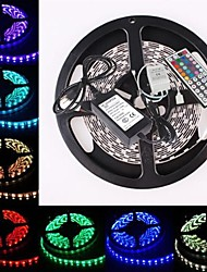 zdm ™ wasserdicht 5m 300x5050 smd RGB-LED-Streifen flexibles Licht + rgb 44key Fernbedienung (ac100-240v)