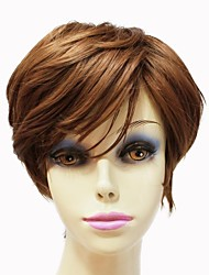 Capless Top Grade Synthetic Light Brown Short Curly Women Wig