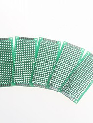 double face 2,54 mm pcb 3 x 7cm protoboard - vert (5pcs)