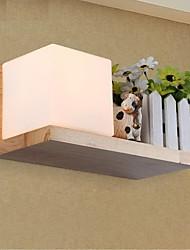 Oak Wall Lamp, One Light, Oak and Glass, 220~240V (JY945L)