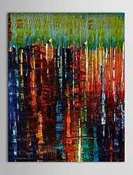 Hand Painted Oil Painting Abstract Night Sea Scenery with Stretched Frame