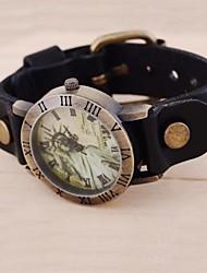 relógios padrão da moda liberdade do vintage das mulheres (cores sortidas)