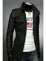 Men's Long Sleeve Regular Jacket , Others