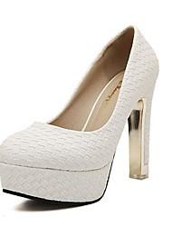 sapatos femininos bombas rodada toe plataforma stiletto calcanhar sapatos mais cores disponíveis