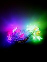 4m 20 leds Halloween Noël des lumières décoratives de fête des lumières-cinq branches bande étoile (220V)