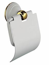 Modern Slat Toilet / Tissue Paper Holder, Brass Painting Finish Bathroom Accessory