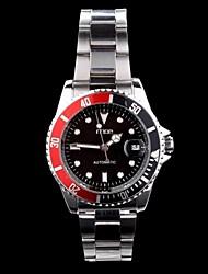 Mann-Uhr-Serie Zahnrad Stahlband automatische mechanische Uhr sortierten Farben d0234