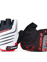 INBIKE Men's Wind Blade TPR White+Black Summer Half Finger Cycling Golves