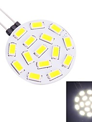 G4 1.9W 570LM 7000K 15x5730 White LED Light Bulb(DC 10-30V)
