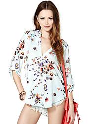 dys b vrouwen bloemenprint overhemd