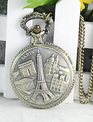 Hoko Tower Large Pocket Watch Retro Sweater Chain
