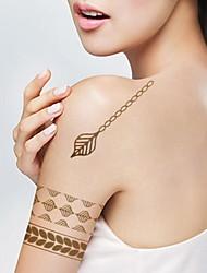 1pcs Regentropfen Blätter Armband Metallic Gold und Silber Tattoo-Aufkleber-temporäre Tätowierung (10.5 * 24.5cm)