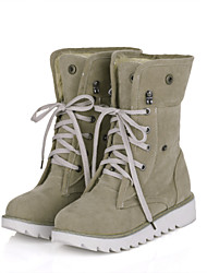 Avini Suede Flat Base Shoestring Martin Boots