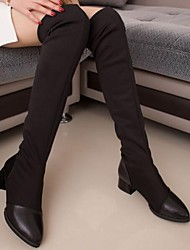 Women's Shoes Platform Pointed Toe Chunky Heel Over The Knee Boots