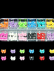 60PCS 12 Colours Romantic Resin Nail Art Decoration