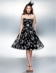Cocktail Party/Prom Dress - Multi-color Plus Sizes Sheath/Column Sweetheart Knee-length Chiffon