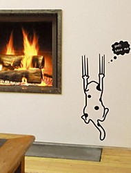 stickers muraux autocollants de mur, mur de PVC mignon chat réfrigérateur autocollants