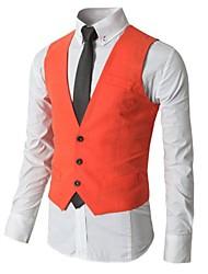 Men's Sleeveless Regular Blazer , Cotton Pure