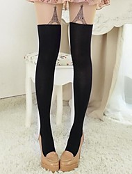 joelhos torre de mulheres a bordar meia-calça