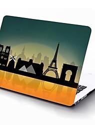 paris conception de sites touristiques de tout le corps cas de protection en plastique pour 11 pouces / 13 pouces nouveau MacBook Air